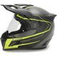 Black/Hi-Viz Yellow Krios Karbon Vanquish Adventure Helmet