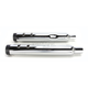 Black/Chrome Stout Slip-On Mufflers - 144-65226