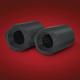 Black Satin Die-Cast Exhaust  Tips - 52-798BK