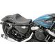 Black Carbon Fiber Cafe Style Solo Seat - 0804-0675