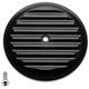 Black Finned VT Air Cleaner Cover - 02-220-1
