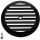 Black/Silver Finned VT Air Cleaner Cover - 02-220-2