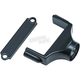 Gloss Black Side Mount License Plate Clamp - 3195