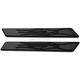Black Flame Saddlebag Latch Inserts - 04-502-1