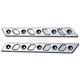 Chrome Techno Saddlebag Latch Inserts - 04-505-3