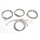 Stainless Steel Braided Standard Handlebar Cable and Brake Line Kit For Use w/ Mini Ape Hangers w/ABS - LA-8054KT-08