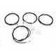 Black Vinyl Standard Handlebar Cable and Brake Line Kit For Use w/Mini Ape Hangers w/ABS - LA-8054KT-08B