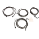 Midnight Black Standard Cable and Brake Line Kit for use w/Mini Ape Hangers - LA-8054KT-08M