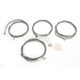 Stainless Steel Braided Standard Handlebar Cable and Brake Line Kit For Use w/12