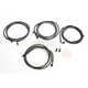 Midnight Black Standard Cable and Brake Line Kit For Use w/12