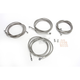 Stainless Steel Braided Standard Handlebar Cable and Brake Line Kit For Use w/15
