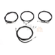 Black Vinyl/Stainless Standard Handlebar Cable and Brake Line Kit For Use w/15