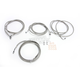 Stainless Steel Braided Standard Handlebar Cable and Brake Line Kit For Use w/18