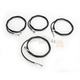 Black Vinyl/Stainless Standard Handlebar Cable and Brake Line Kit For Use w/18