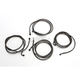 Midnight Black Standard Cable and Brake Line Kit For Use w/18