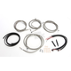 Stainless Steel Braided Complete Handlebar and Brake Line Kit For Use w/Mini Ape Hangers w/ABS - LA-8054KT2-08