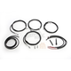Black Vinyl/Stainless Steel Complete Handlebar Cable and Brake Line Kit For Use w/Mini Ape Hangers w/ABS - LA-8054KT2-08B