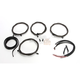 Midnight Black Complete Handlebar Cable and Brake Line Kit For Use w/Mini Ape Hangers w/ABS - LA-8054KT2-08M