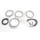 Stainless Steel Braided Complete Handlebar and Brake Line Kit For Use w/12