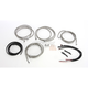 Stainless Steel Braided Complete Handlebar and Brake Line Kit For Use w/15