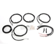 Black Vinyl/Stainless Steel Complete Handlebar Cable and Brake Line Kit For Use w/15