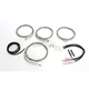 Stainless Steel Braided Complete Handlebar and Brake Line Kit For Use w/18