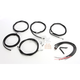Black Vinyl/Stainless Steel Complete Handlebar Cable and Brake Line Kit For Use w/18