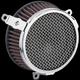 Chrome Plain-Style Air Cleaner Kit  - 606-101-03