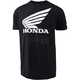 Black Honda Wing T-Shirt