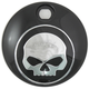 Black/Chrome Skull Fuel Tank Console Door - 38-0600