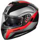 Black/Red Atom SV Tarmac Modular Helmet