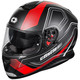 Black/Matte Red Thunder 3 SV Trace Helmet
