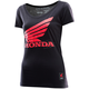 Women's Black Honda Wing T-Shirt