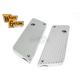 Chrome Finned Saddlebag Face Plates - 42-0180