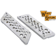 Chrome Swiss Cheese Saddlebag Face Plates - 42-1097