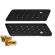 Black Swiss Cheese Saddlebag Face Plates - 42-1127