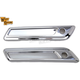 Chrome Smooth Saddlebag Face Plates - 42-1162