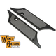 Black Perforated Winged Saddlebag Face Plates - 42-1163