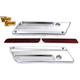 Saddlebag Face Plate w/Red Reflector Set - 49-0867