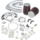 Chrome Single Bore Tuned Induction Kit - 170-0308B