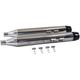 Chrome Muffler Set w/Black Medium Tapered End Tips - 30-4053
