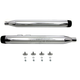 Chrome Muffler Set w/Black Medium Tapered End Tips - 30-4054