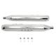 Chrome Muffler Set w/Short Tapered End Tips - 30-4052