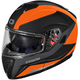 Black/Matte Flo Orange Atom SV Tarmac Modular Helmet
