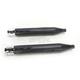 Black 4 in. Slip-On Mufflers w/Chrome Slot End Caps - 500-0103C-SLOT