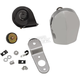 Chrome Electric Horn Kit  - 2107-0245