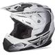 Matte White/Black Toxin Helmet
