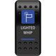 Dash Mount Whip Light Rocker Switch - 0616-0329