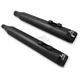 Black Ceramic Coat Tru Power 4 in. Slip On Mufflers w/Gloss Black Tips - LA-1194-04B