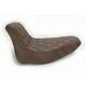 Brown Renegade Lattice-Stitch Solo Seat - 806-15-002BLS